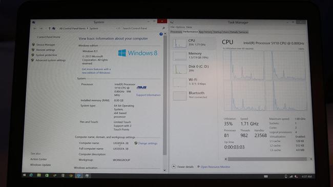 Zenbook UX305 Specs