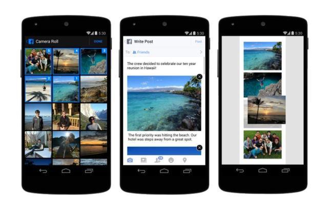 Facebook Fotos Uplaod Update Screens