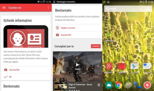 Google Play Movies Material-Design