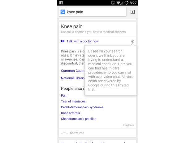 Google Suche Arzt Videochat