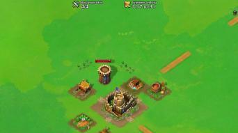 Erster Angriff auf den frisch platzierten Wachturm