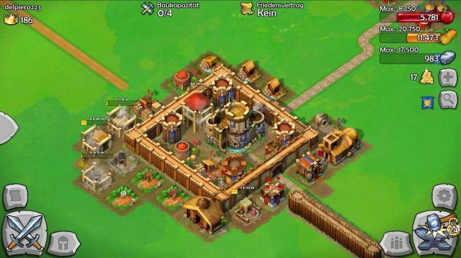 castle siege stadt ausgebaut
