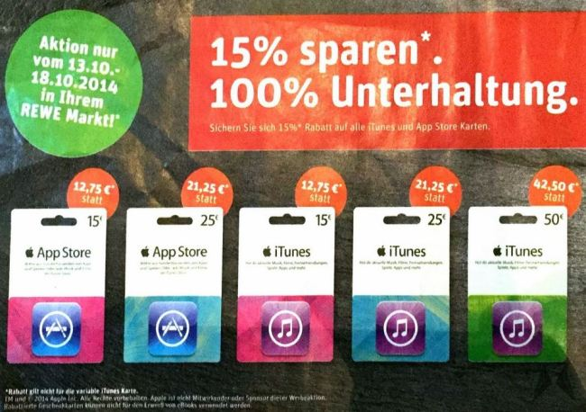 iTunes Rewe Aktion