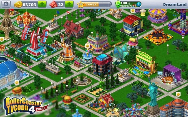 rollercoaster tycoon 4 mobile