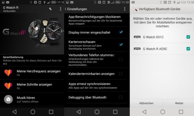 LG G Watch R Android Wear Security Lock