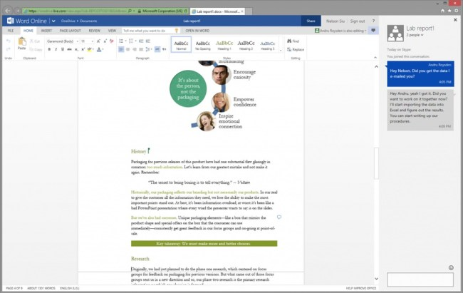 Office Online Skype-Chat
