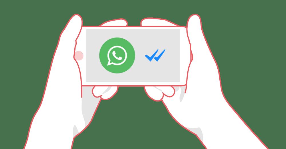 WhatsApp-Haken-Blau