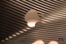 dBrand Skin für das Apple Macbook Pro Retina in Carbon IMG_3994