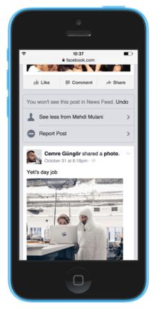 facebook iphone 5c newsfeed verstecken