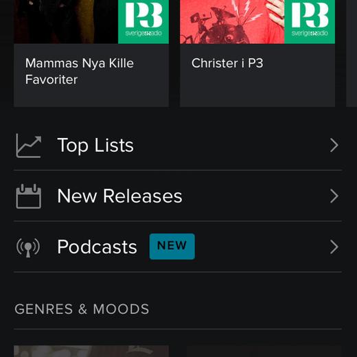 spotify app podcasts