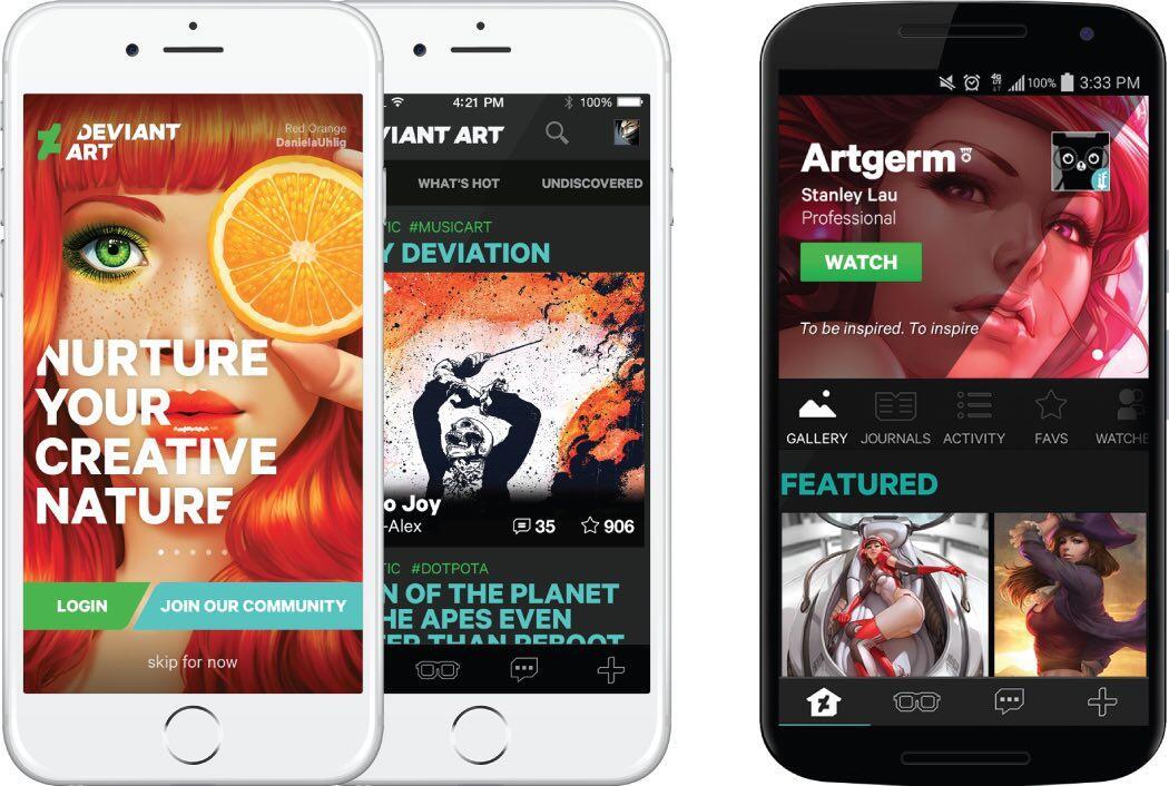 deviantart k nstler plattform mit app f r android und ios. Black Bedroom Furniture Sets. Home Design Ideas