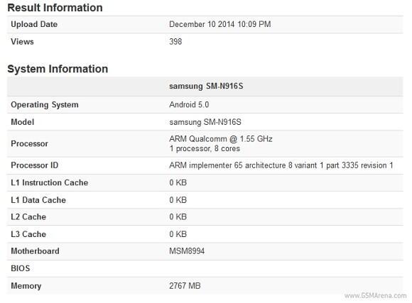 Samsung Galaxy Note 4 Snapdragon 810 Benchmark