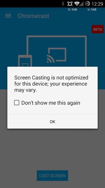 chomrcast screencast beta android