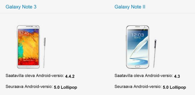 galaxy note ii lollipop