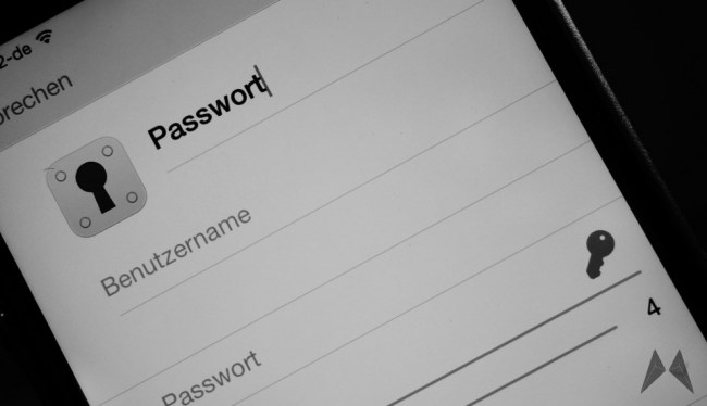 Passwort Header