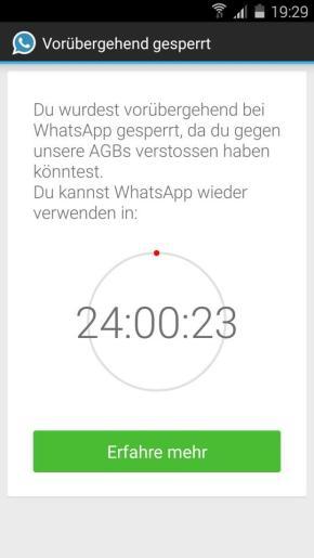 whatsapp sperrung plus 2