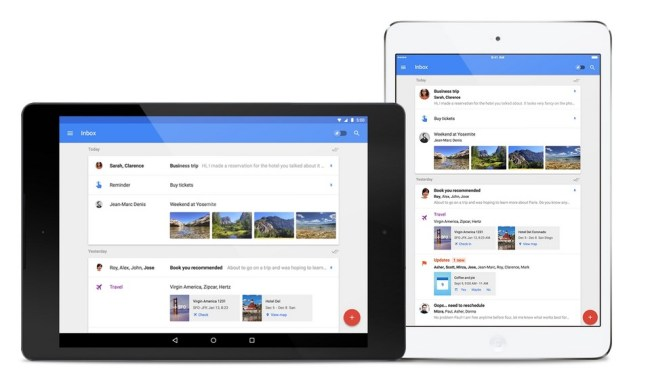 Google Inbox Tablet Header