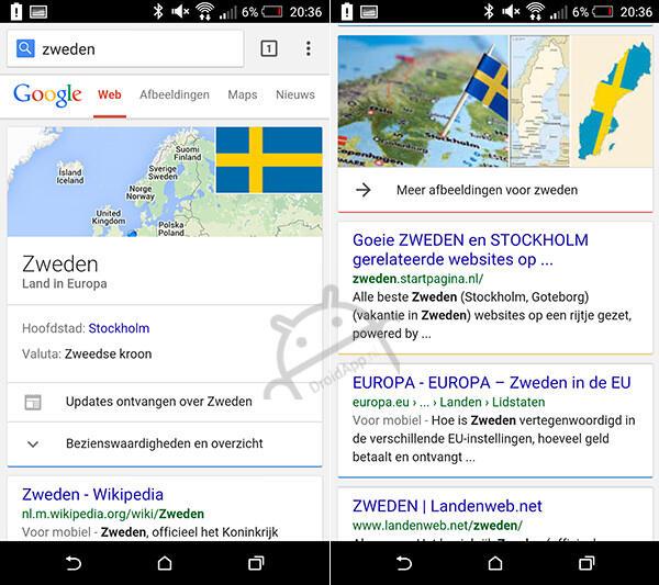 Google Suche Cards-UI 02