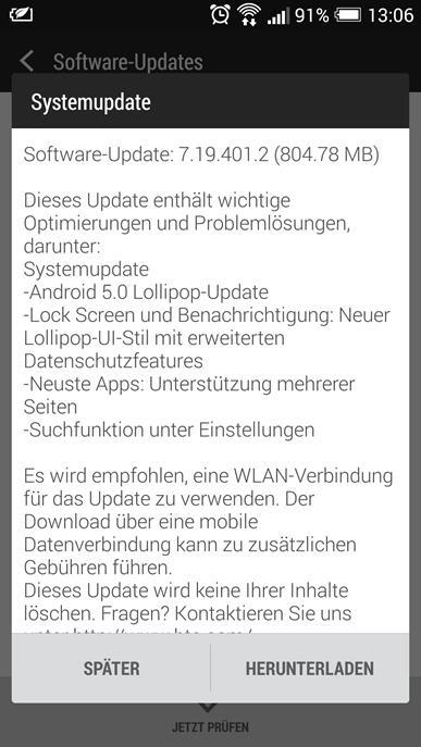 One M7 Update