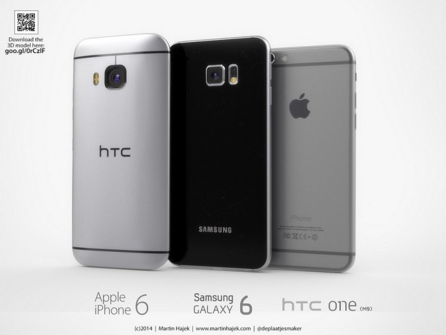 One M9 Galaxy S6 iPhone 6 (2)