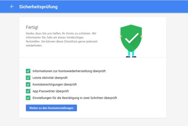 google sicherheitsprüfung