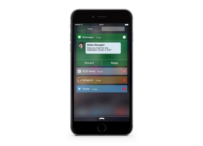 iOS Notification Center Concept