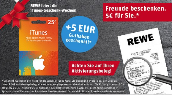 iTunes Rewe Gutschein