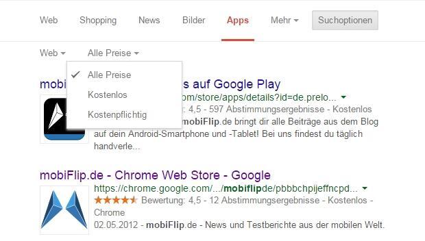 mF Suche Apps