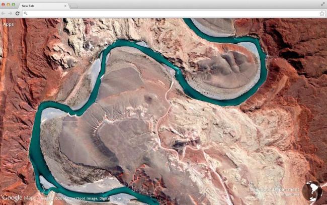 Chrome Tab Earth