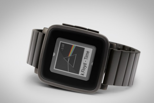 Pebble Time Steel Schwarz