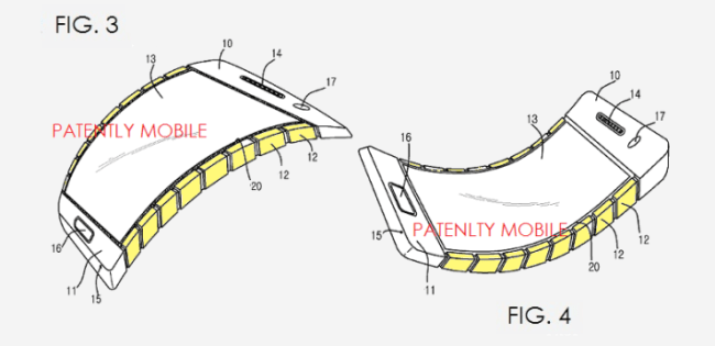 Samsung Patent biegbares Display