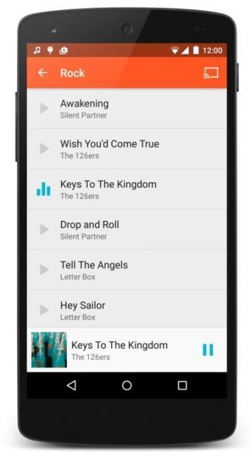 Universal Music Player Smartphone