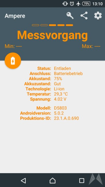ampere messung android