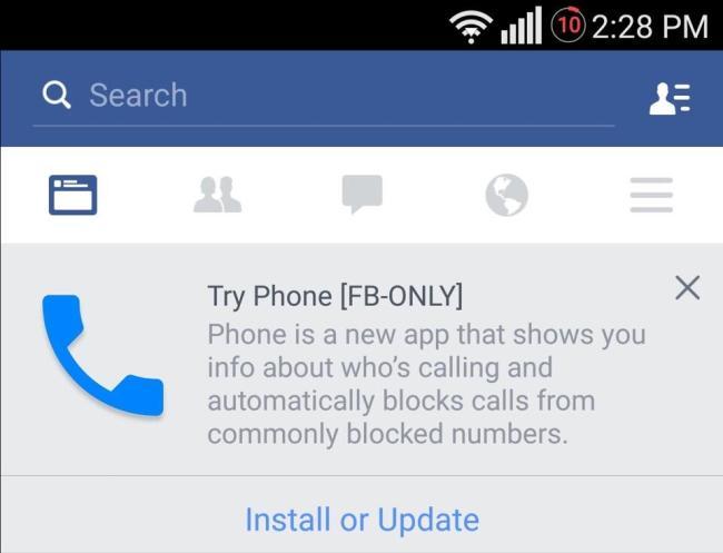 facebook telefon app