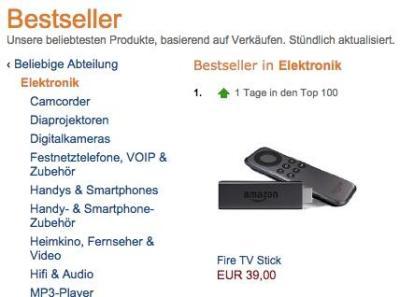 fire tv stick bestseller