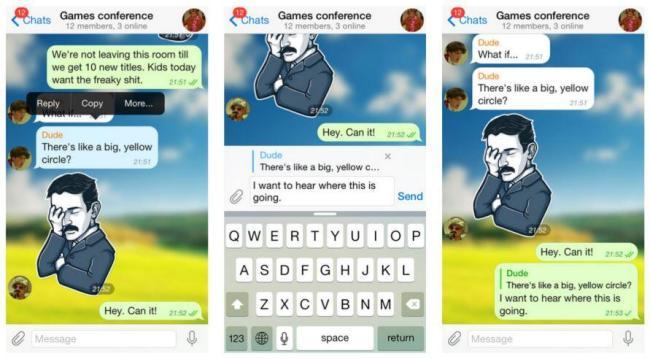 telegram messenger antworten