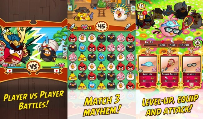 Angry Birds Fight Screens