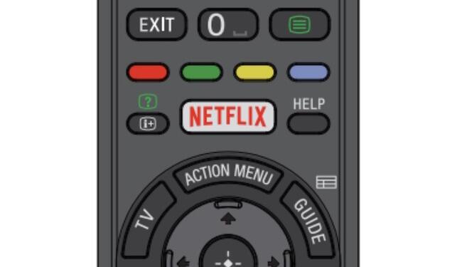 Netflix Knopf Fernbedienung