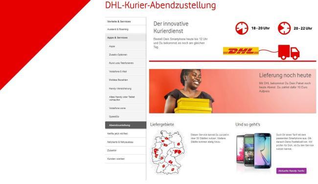 Vodafone DHL Kurier