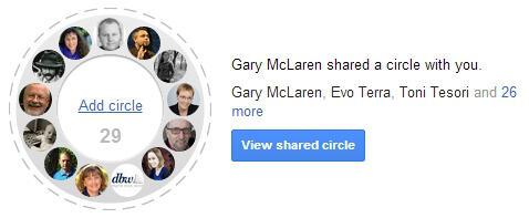 Google Plus Geteilte Kreise