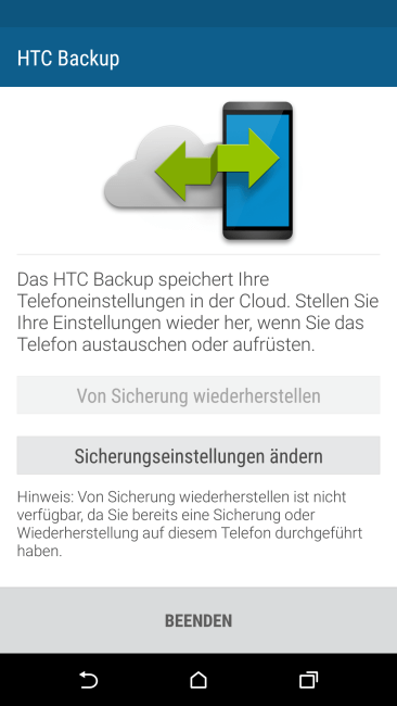 HTC One M9 Backup