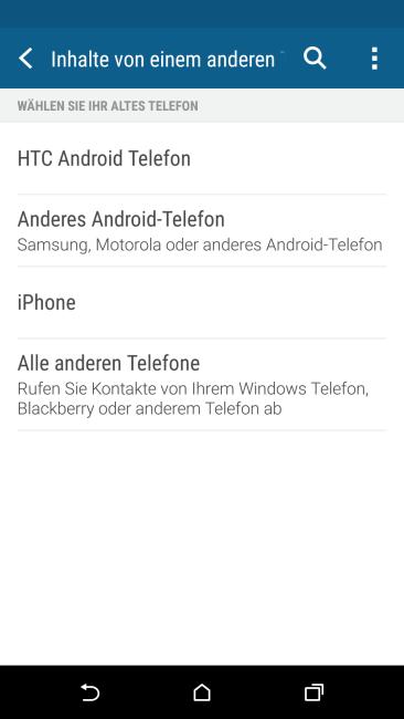 HTC One M9  Inhalte übertragen