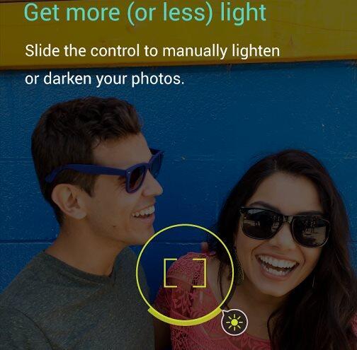 Motorola Kamera-App Manuelle Beleuchtung