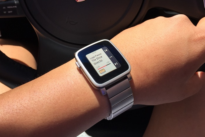 Pebble Time Steel Gliederband