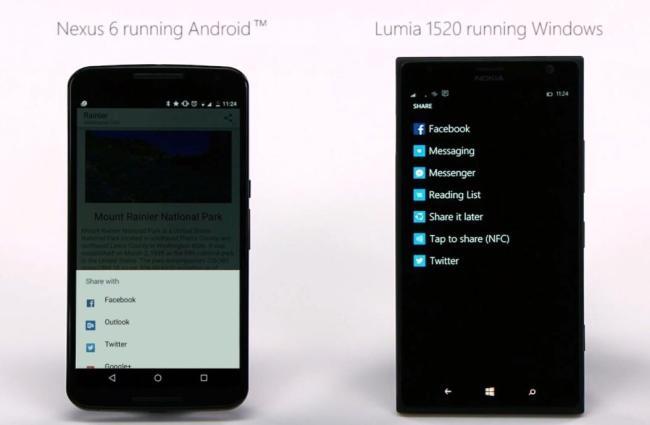 windows phone android sharing
