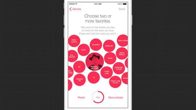 Apple Music Bubbles