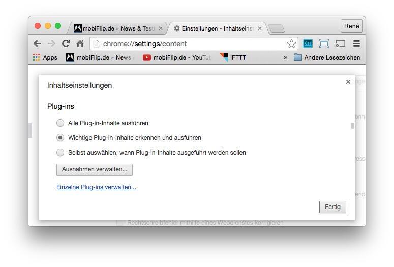 Chrome Plugins neu