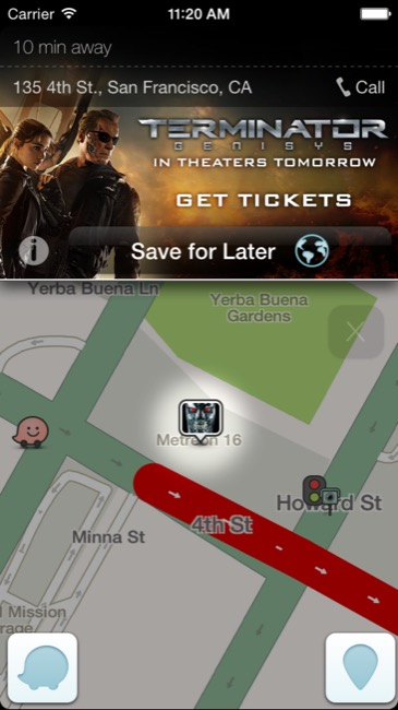 Screenshot_Waze App_Terminator