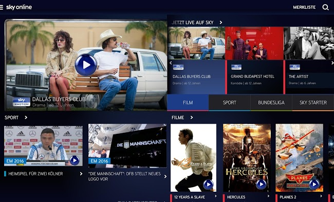 sky online android