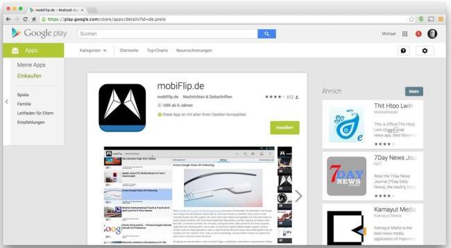 Google Play neuer Look